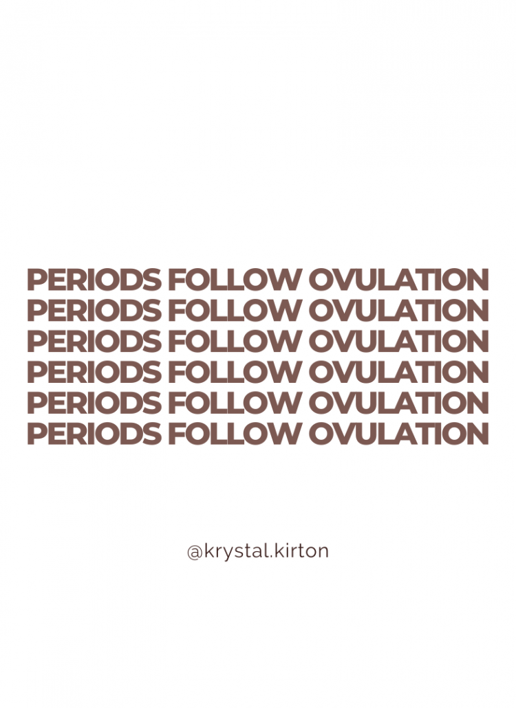 Periods Follow Ovulation